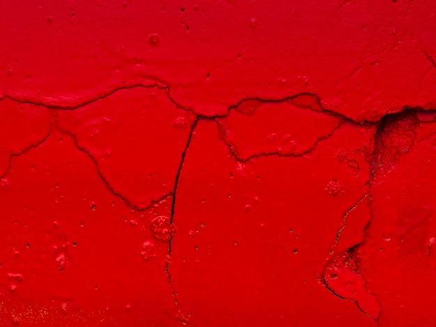 Superficie de galletas de pintura roja