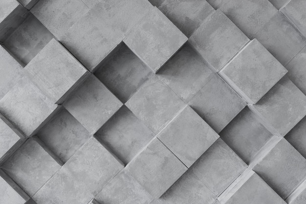 Superficie gris 3d con cuadrados