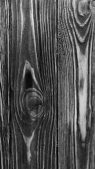Superficie de madera monocromática con nudos.