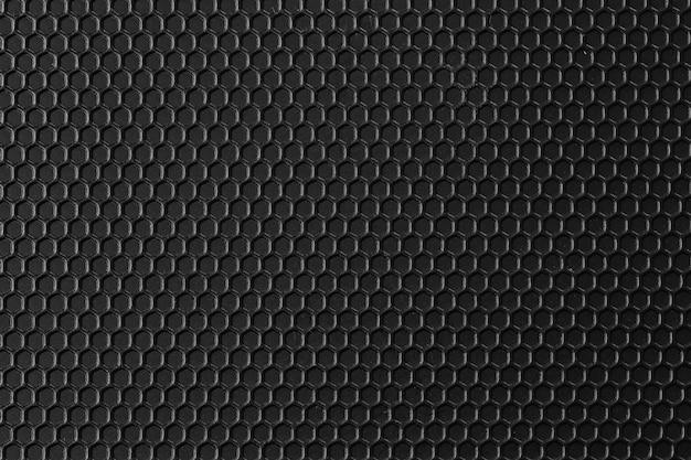 La superficie del metal del patrón negro es un fondo de mesa.