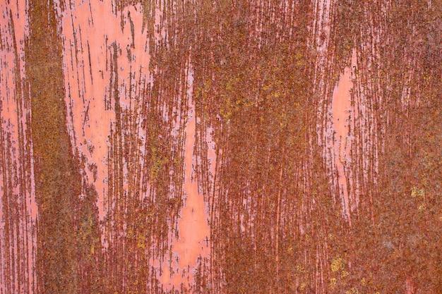 Superficie oxidada, roja, vieja, rayada, textura de metal