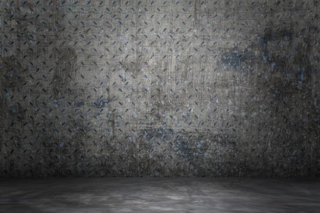 La superficie de la pared está en blanco para el fondo.