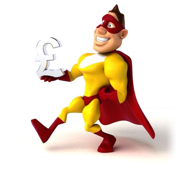 Superhéroe divertido - ilustración 3d