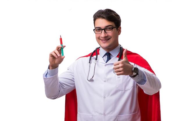 Superhéroe médico aislado