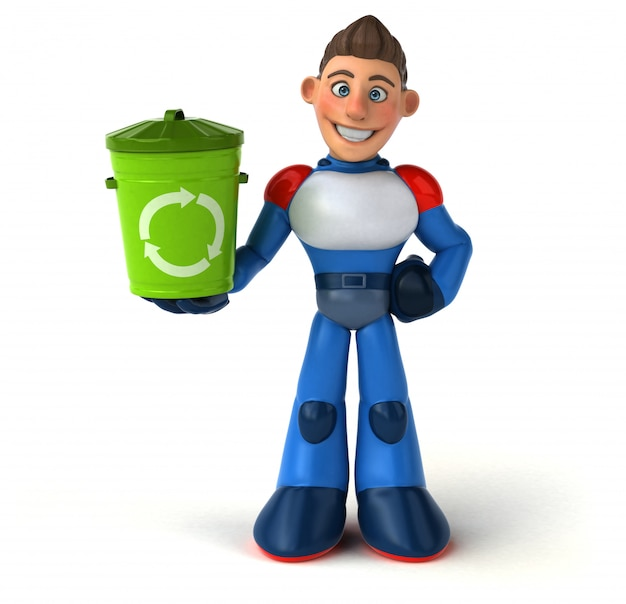 Superhéroe super moderno - ilustración 3d