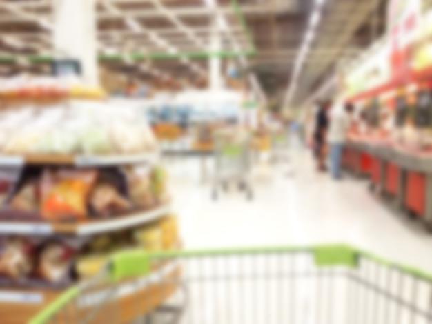 Supermercado de abarrotes venta comúnmente