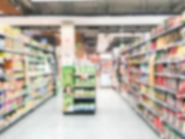 Supermercado de desenfoque
