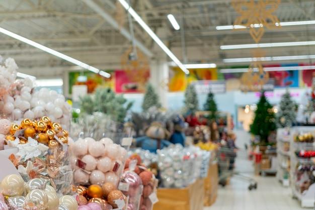 Supermercado en navidad