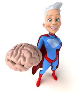 Supermujer personaje 3d