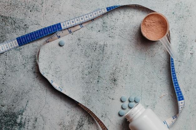 Suplementos para el culturismo. proteínas y pastillas