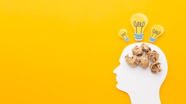 Surtido abstracto plano con elementos de innovación