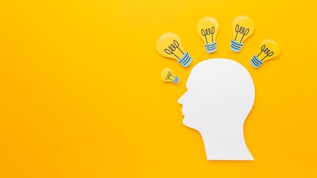 Surtido abstracto de vista superior con elementos de innovación