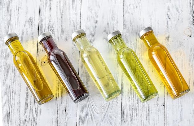 Surtido de aceites vegetales.