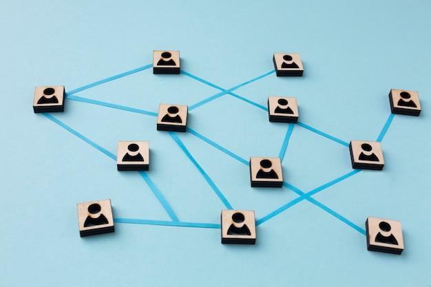 Surtido de bodegones de concepto de redes