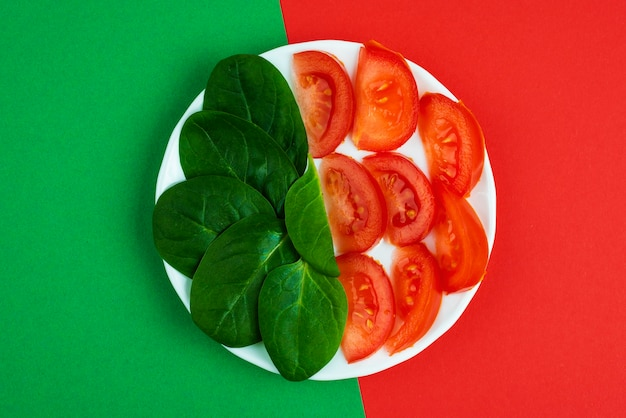 Surtido de deliciosas verduras frescas