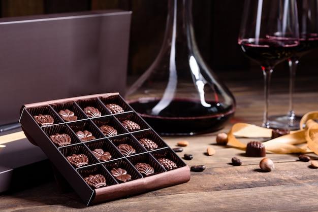 Surtido de dulces finos de chocolate