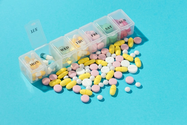 Surtido mínimo de píldoras medicinales