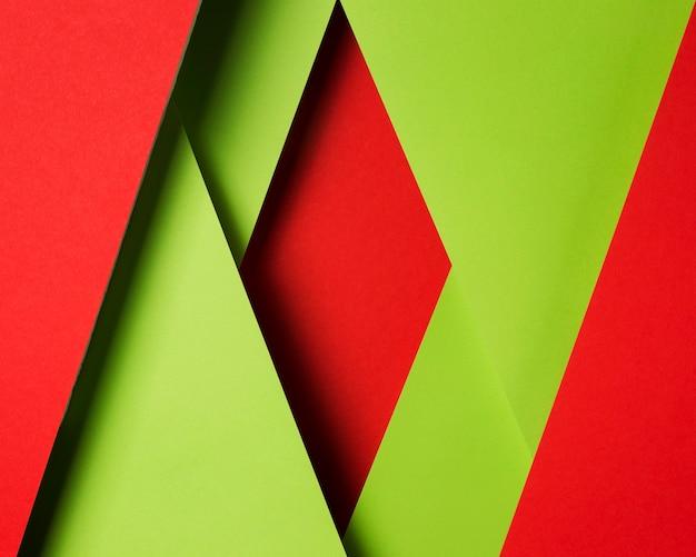 Surtido plano de hojas de papel de colores