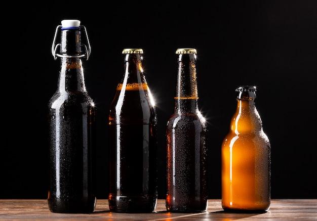 Surtido de sabrosas cervezas americanas