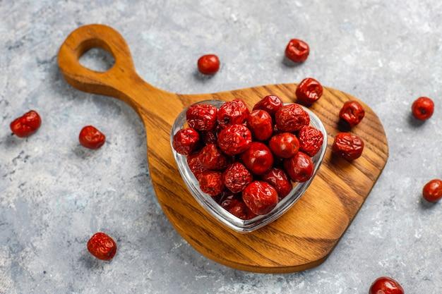 Surtido saludable frutos secos, vista superior
