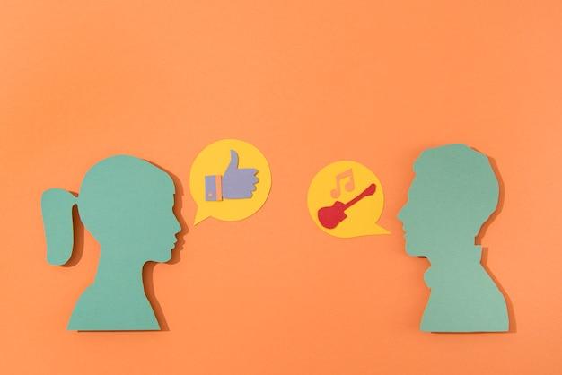 Surtido de símbolos de redes sociales