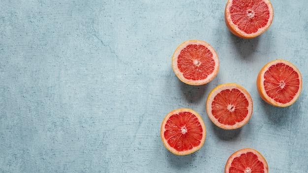 Surtido de vista superior de alimentos saludables para aumentar la inmunidad