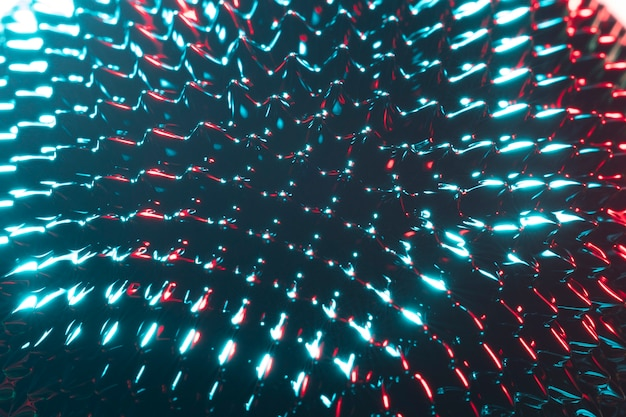 Sustancia metálica ferromagnética de primer plano