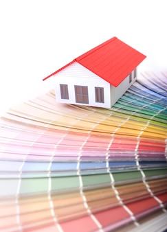 Tabla de muestra de color para el nuevo hogar