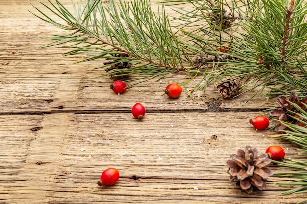 Tablas de madera viejas de año nuevo y navidad