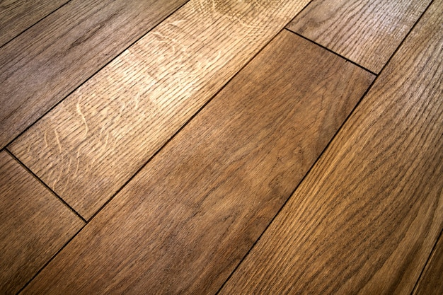 Tablas de piso de parquet de madera de textura marrón natural