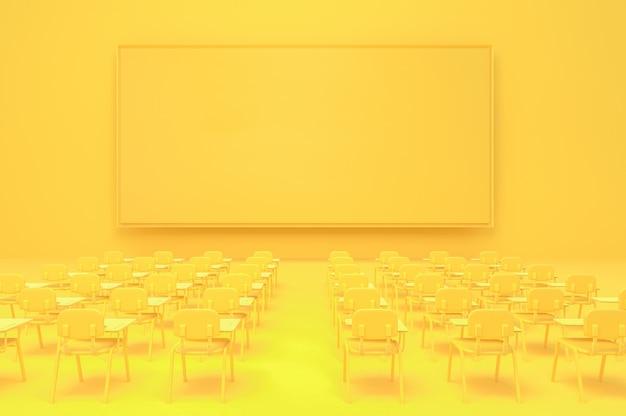 Tablero de anuncios vacío pantalla amarilla