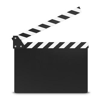 Tablero de chapaleta de la película aislado en blanco.