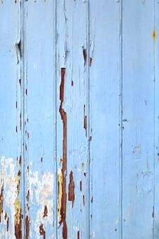 Tablero de madera vieja pintada fondo azul