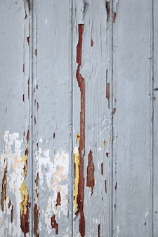 Tablero de madera vieja pintada fondo gris