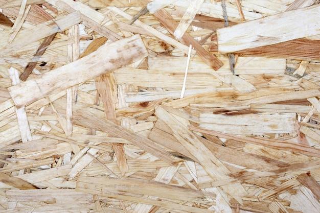Tablero de partículas de madera contrachapada de aserrín de diferentes tamaños.