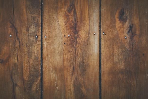 Tablero de tablones de madera marrón para fondo o papel tapiz