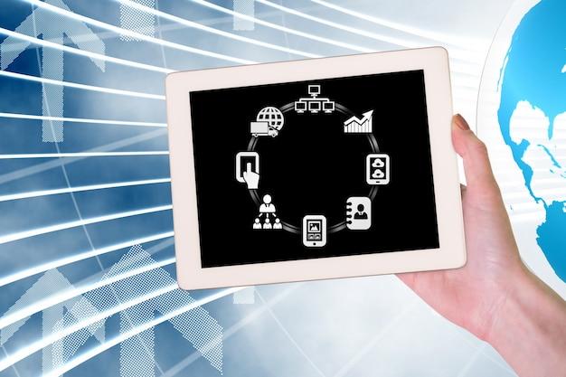 Tablet con aplicaciones