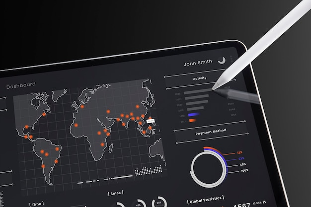 Tableta digital para aprendizaje en línea