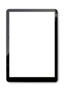 Tableta digital en blanco con trazado de recorte