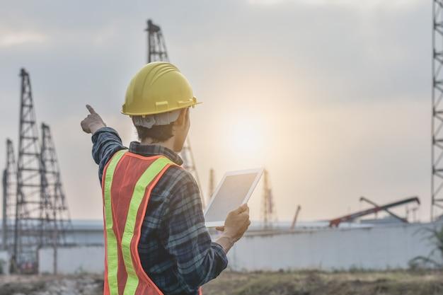 Tableta de sujeción de construcción de ingeniería grúas de poste para construcción de pilotes