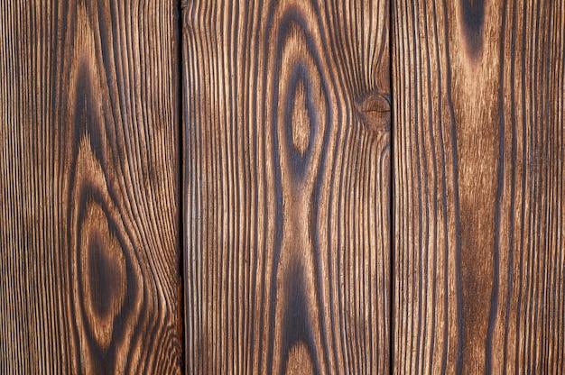Tablones de madera marrón hermoso patrón y textura para el fondo