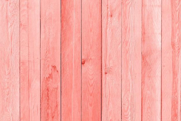 Tablones de madera pintados de color coral moderno del año 2019, fondo, textura
