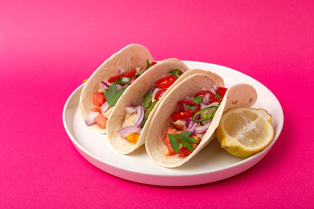 Tacos mexicanos caseros