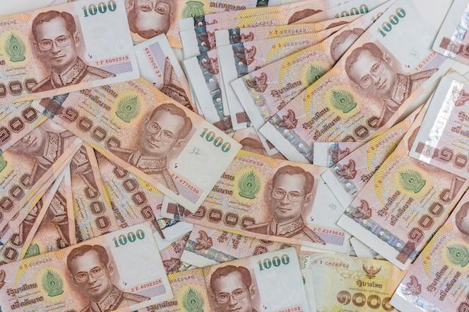 Tailandia nota de banco o dinero para blackground