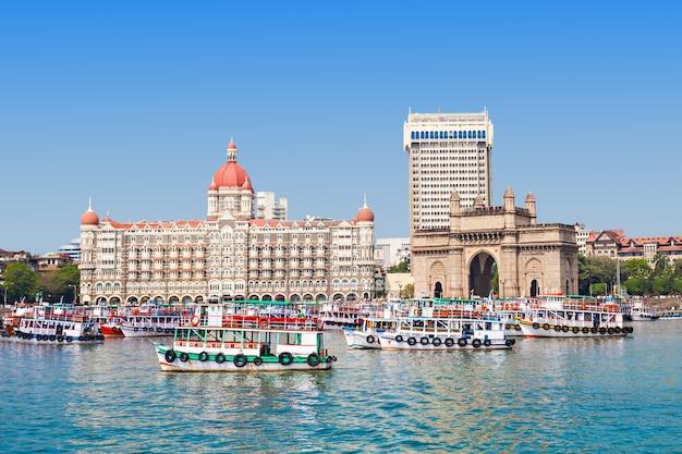 Taj mahal hotel y puerta de enlace de la india