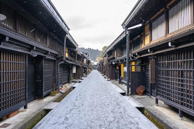 Takayama, la ciudad antigua en la prefectura de gifu, japón