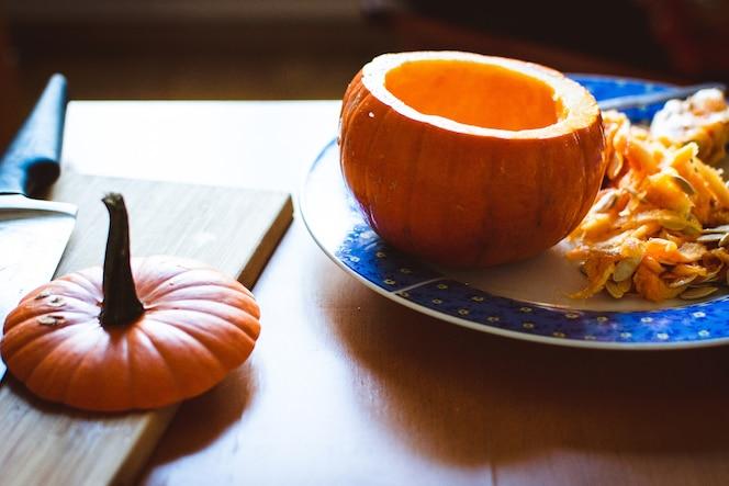 Talla de calabaza de halloween
