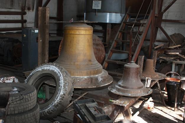 Taller para la producción de campanas.