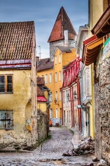 Tallinn old town street, estonia