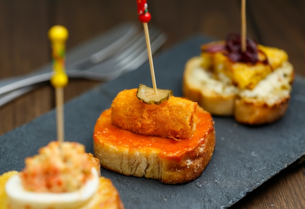 Tapas de aperitivos españoles
